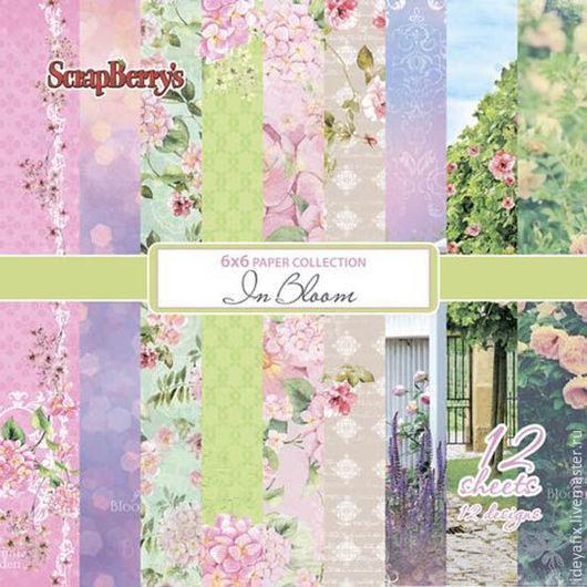 В набор входит 12 листов бумаги с дизайнами коллекции из них 2 листа с карточками.   Размер: 15х15 см. Плотность: 190 гр-м Коллекция: Цветущий сад In bloom Бренд: ScrapBerry`s