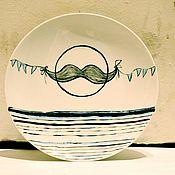 Посуда ручной работы. Ярмарка Мастеров - ручная работа тарелочка настенная. Handmade.