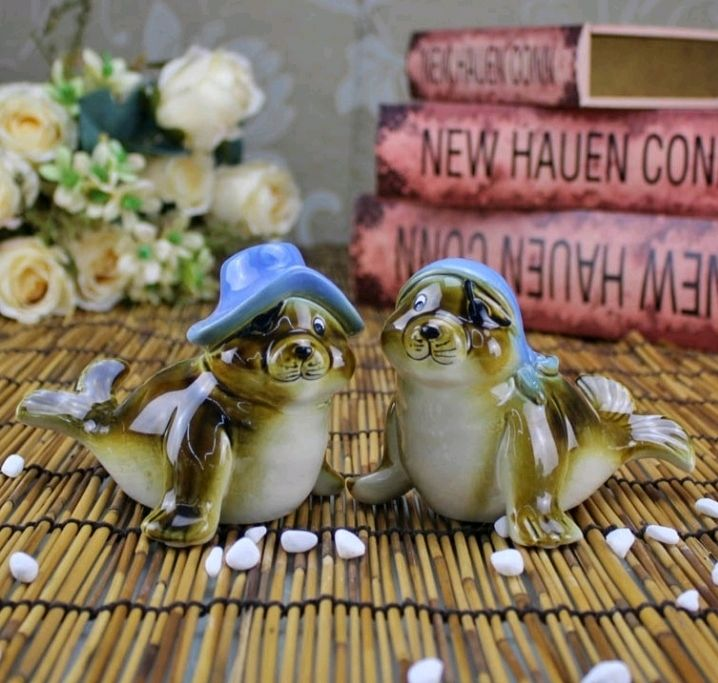 Porcelain seal figurines, Figurines, Moscow,  Фото №1