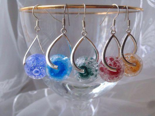 Серьги ручной работы. Ярмарка Мастеров - ручная работа. Купить пузырики. Handmade. Стекло, подарок, стекло