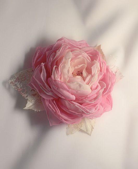 Броши ручной работы. Ярмарка Мастеров - ручная работа. Купить Шифоновые розы в винтажном стиле. Handmade. Винтажная брошь