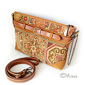 Сумки и аксессуары handmade. Livemaster - original item Handbag Yurga leather and tapestry. Handmade.