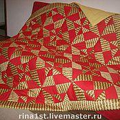 """Одеяла ручной работы. Ярмарка Мастеров - ручная работа Лоскутное одеяло """"Индийский вечер"""". Handmade."""