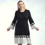 """Одежда ручной работы. Ярмарка Мастеров - ручная работа Жаккардовое платье """" Классика """"  чёрно - белое. Handmade."""