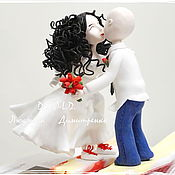 Cake Decoration handmade. Livemaster - original item Wedding figurine on cake. Handmade.