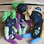 Куклы и игрушки ручной работы. Ярмарка Мастеров - ручная работа Мишки Анютины глазки. Handmade.