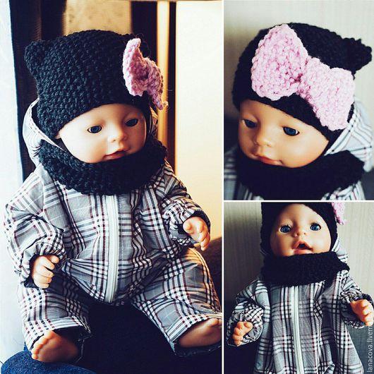 Одежда для кукол ручной работы. Ярмарка Мастеров - ручная работа. Купить Комбинезон для Baby Born. Handmade. Чёрно-белый