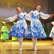 Работы для детей, ручной работы. Ярмарка Мастеров - ручная работа Русский народный костюм Гжель. Handmade.