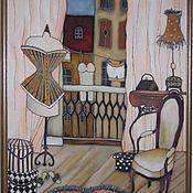 """Картины и панно ручной работы. Ярмарка Мастеров - ручная работа Панно """"Французский будуар с манекеном"""". Handmade."""