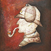 Картины и панно ручной работы. Ярмарка Мастеров - ручная работа Картина Шерлок. Handmade.