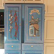 Дизайн и реклама ручной работы. Ярмарка Мастеров - ручная работа Роспись холодильника Итальянская кухня. Handmade.