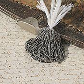 Бисер ручной работы. Ярмарка Мастеров - ручная работа 22/0 Антикварный микро-бисер металл, цвет античное серебро. Handmade.