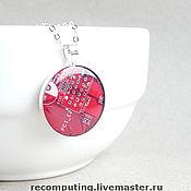 Украшения ручной работы. Ярмарка Мастеров - ручная работа Красный круглый кулон. Handmade.