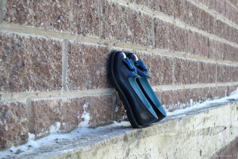 Лоферы кожаные с кисточками, Лоферы, Санкт-Петербург, Фото №1