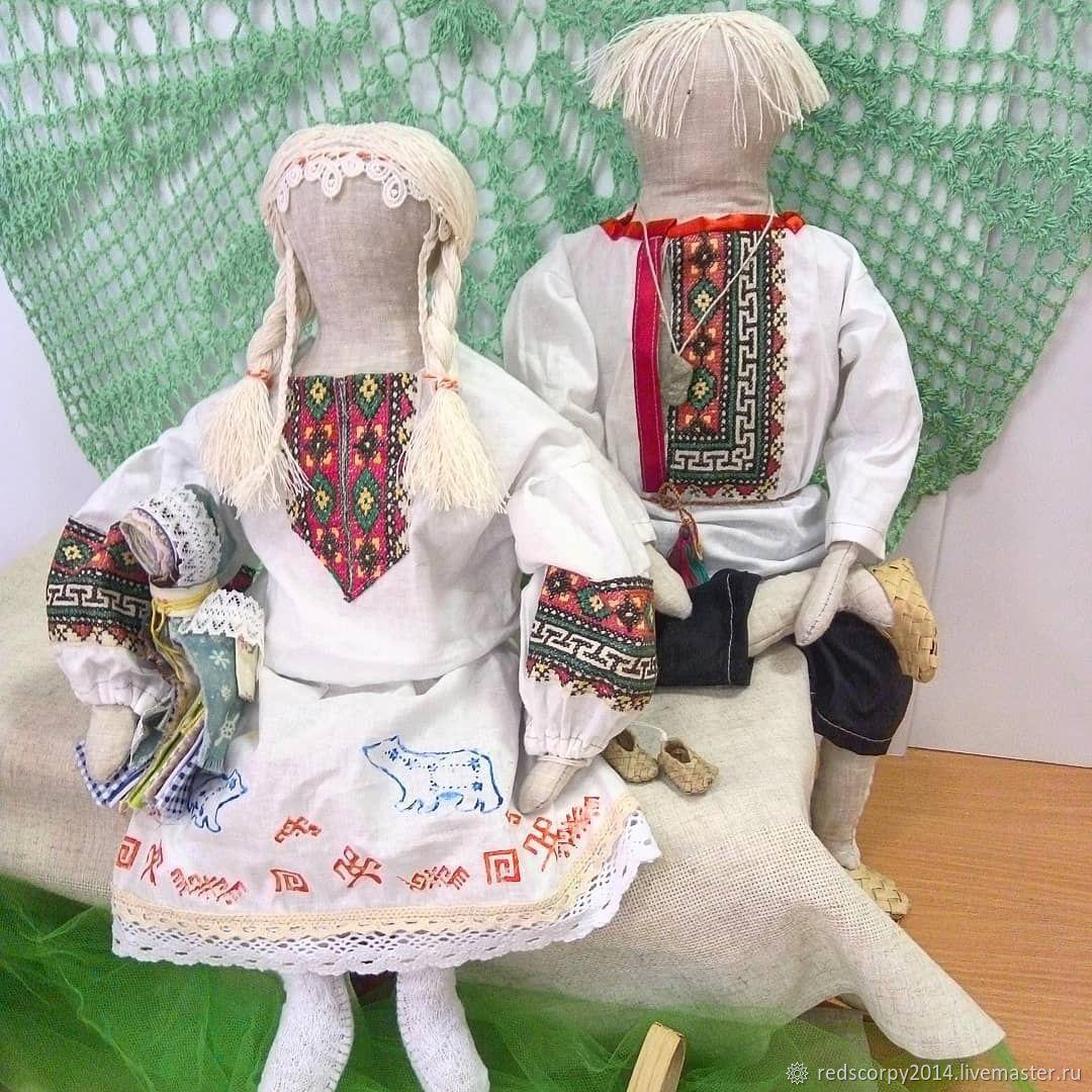 жених и невеста вепсов, Народная кукла, Никольское,  Фото №1
