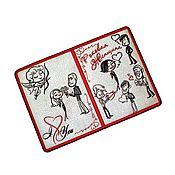 """Канцелярские товары ручной работы. Ярмарка Мастеров - ручная работа Обложка для паспорта """" Роковая женщина  """". Handmade."""