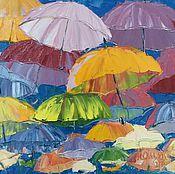 Картины и панно ручной работы. Ярмарка Мастеров - ручная работа Зонты. Handmade.