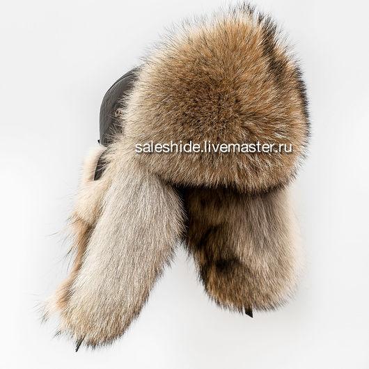"""Шапки ручной работы. Ярмарка Мастеров - ручная работа. Купить Мужская шапка ушанка """"Бомбер"""" из меха волка. Handmade."""