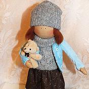 Куклы и игрушки ручной работы. Ярмарка Мастеров - ручная работа Кукла Алиса с медведиком.. Handmade.
