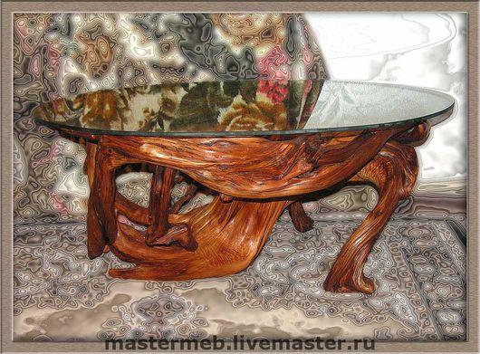 Мебель ручной работы. Ярмарка Мастеров - ручная работа. Купить Стол можжевеловый журнальный. Handmade. Эксклюзив, натуральные материалы, можжевельник