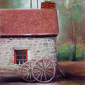 Картины и панно handmade. Livemaster - original item Picture Rural landscape pastel painting. Handmade.