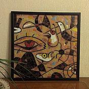 Картины и панно ручной работы. Ярмарка Мастеров - ручная работа Мозаичная копия картины (фрагмент). Handmade.