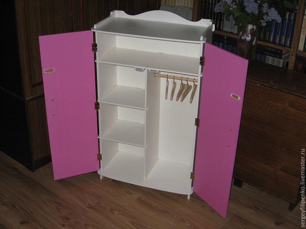 Шкаф для барби из картона 369