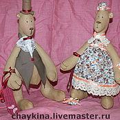 Куклы и игрушки ручной работы. Ярмарка Мастеров - ручная работа Медведи Акулина и Афанасий. Handmade.