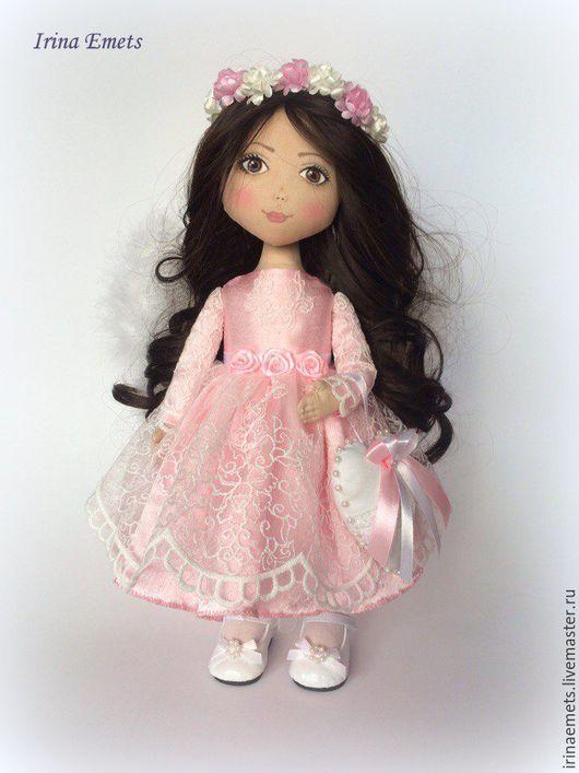 Коллекционные куклы ручной работы. Ярмарка Мастеров - ручная работа. Купить Ангел в розовом. Handmade. Розовый, интерьерная кукла