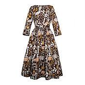 Одежда ручной работы. Ярмарка Мастеров - ручная работа Платье Gerbera с карманами. Handmade.