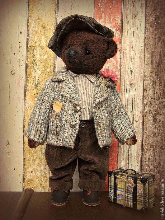 Мишки Тедди ручной работы. Ярмарка Мастеров - ручная работа. Купить Mr. Bruno. Handmade. Коричневый, медведь, шерстяной драп