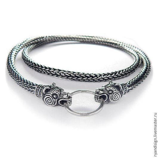 Серебряная цепочка Медведи (мужская или женская, цепь из серебра)