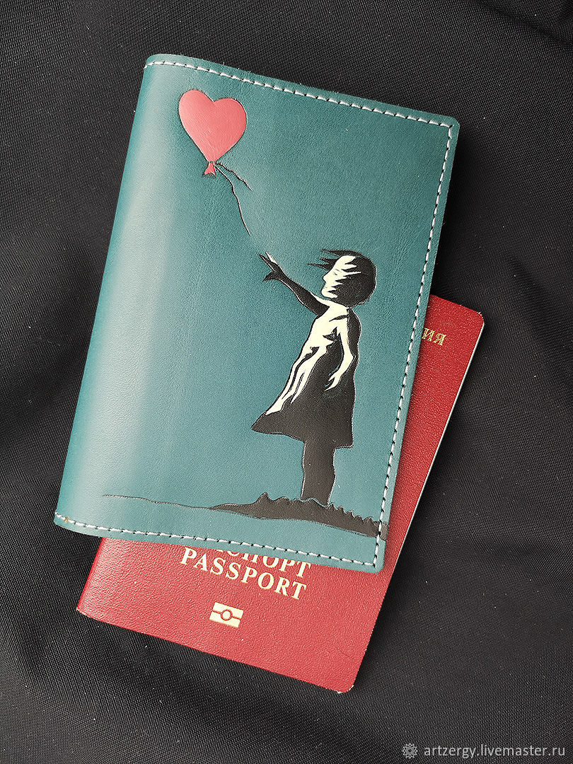 Accessories: BANKSY, passport cover, Subculture Attributes, Moscow,  Фото №1