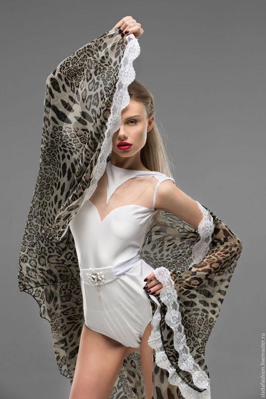 Халаты ручной работы. Ярмарка Мастеров - ручная работа. Купить Леопардовая накидка в пол. Handmade. Комбинированный, купальник, атлас