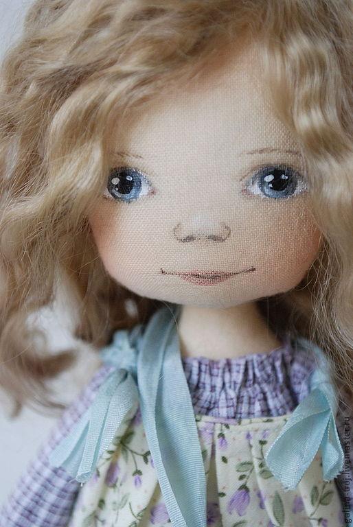 Коллекционные куклы ручной работы. Ярмарка Мастеров - ручная работа. Купить Цветочная Гномочка в сиреневом. Handmade. Бледно-сиреневый, песок