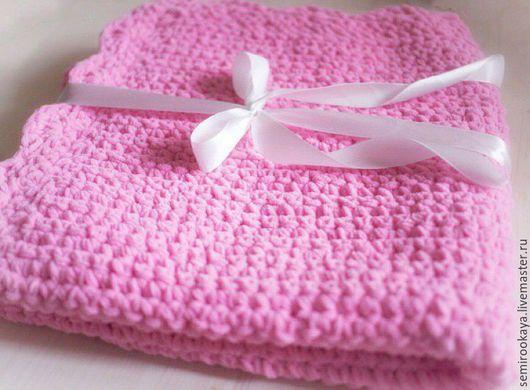 Текстиль, ковры ручной работы. Ярмарка Мастеров - ручная работа. Купить Плед-одеяло. Handmade. Розовый, одеялко, одеяло для новорожденного