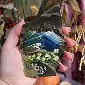 Сувениры и подарки handmade. Livemaster - original item Magnet Sochi natural stone Souvenirs wholesale. Handmade.
