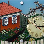 """Для дома и интерьера ручной работы. Ярмарка Мастеров - ручная работа Часы """"Родительский дом"""". Handmade."""