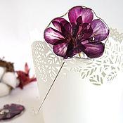 Украшения handmade. Livemaster - original item Brooch Needle Geranium Real Flower Resin Jewelry Boho Brooch. Handmade.