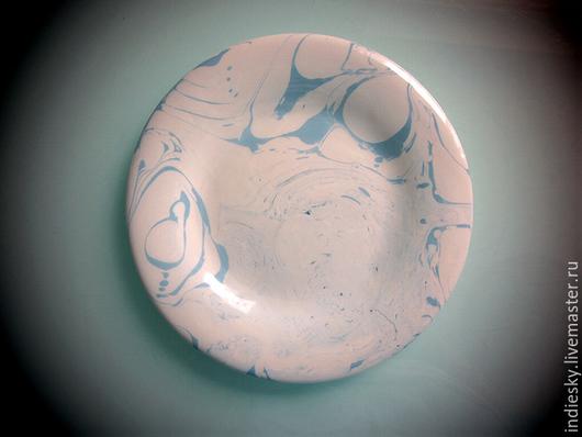 Тарелки ручной работы. Ярмарка Мастеров - ручная работа. Купить тарелка ручной работы. Handmade. Голубой, тарелка ручной работы