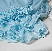 """Одежда ручной работы. Ярмарка Мастеров - ручная работа Блузка шелковая бирюзовая """"Колибри"""" длинные рукава. Handmade."""