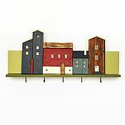 """Для дома и интерьера handmade. Livemaster - original item Ключница-вешалка из дерева """"Норвежская сказка""""_Ключница-панно_Крючки. Handmade."""