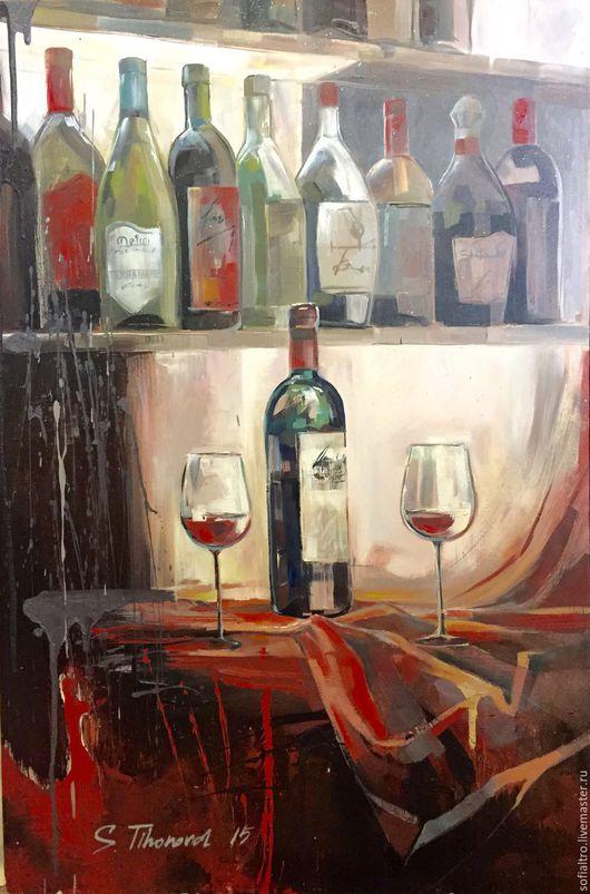 Абстракция ручной работы. Ярмарка Мастеров - ручная работа. Купить Проба вина- 2. Handmade. Черный, синий цвет, панно