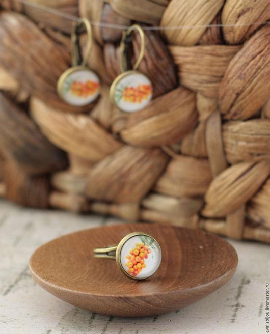 """Кольца ручной работы. Ярмарка Мастеров - ручная работа. Купить Кольцо """"Облепиха"""". Handmade. Оранжевый, кольцо с облепихой, оригинальное кольцо"""
