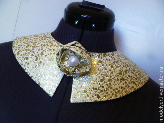 Collar Cold / brocade ,gold, Collars, Moscow,  Фото №1