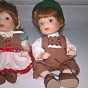 Портретная кукла ручной работы. Ярмарка Мастеров - ручная работа Портретная кукла: Фарфоровые куклы Гретта и Ганс. Handmade.