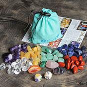 Сувениры и подарки ручной работы. Ярмарка Мастеров - ручная работа Игра с кубиками и самоцветами Шестицвет. Handmade.
