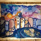 Картины и панно ручной работы. Ярмарка Мастеров - ручная работа Валяная картина Старый город. Handmade.