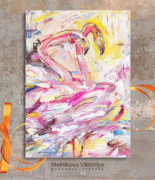 Картина маслом  `Яркая нежность` 50/70 см холст на подрамнике