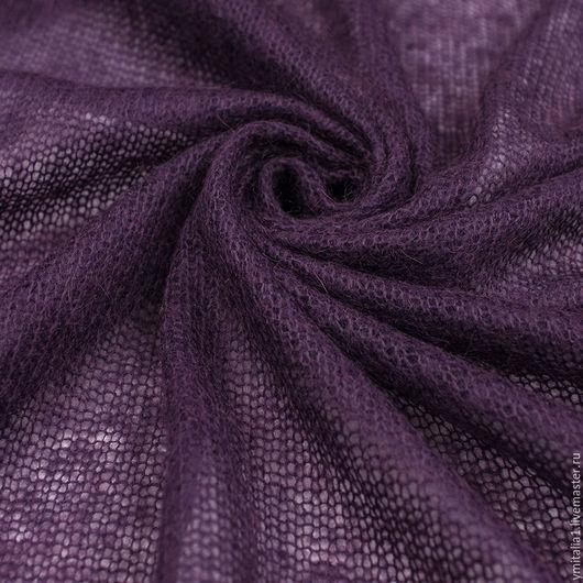 Шитье ручной работы. Ярмарка Мастеров - ручная работа. Купить Шерстяной трикотаж вязаный фиолетовый MARINA RINALDI. Handmade.